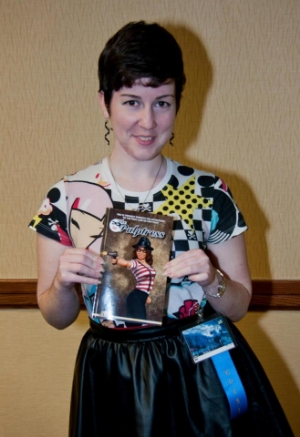 Me with the first copy of The Pulptress!