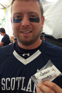 Scotland Lacrosse National Team Goalie Dean Stewart #88 loved the hard-working blue and black isplack eyeblack.  He introduced isplack eyeblack to his teammates and word spread fast about isplack, the best eyeblack in the world!