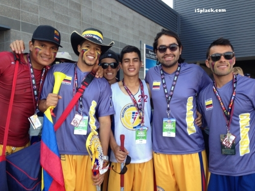 Colombia Lacrosse National Team wore blue, yellow and red isplack eyeblack for their World Lacrosse 2014 games.  It did not run, smear or wear off.  isplack eyeblack worked as hard as they did! Thanks for the feedback, this post game picture, and your dedication to our product Colombia!