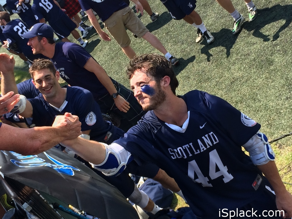 Two hours in summer heat and going strong. isplack is the best eyeblack in the world. Just ask #44 Ryan Sage, Middie  Scotland National Lacrosse Team