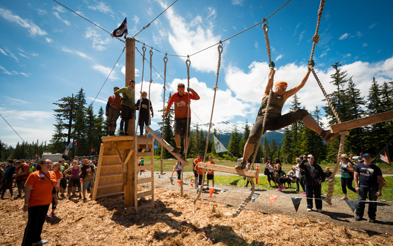 Annual Tough Mudder at the Whistler Olympic Park