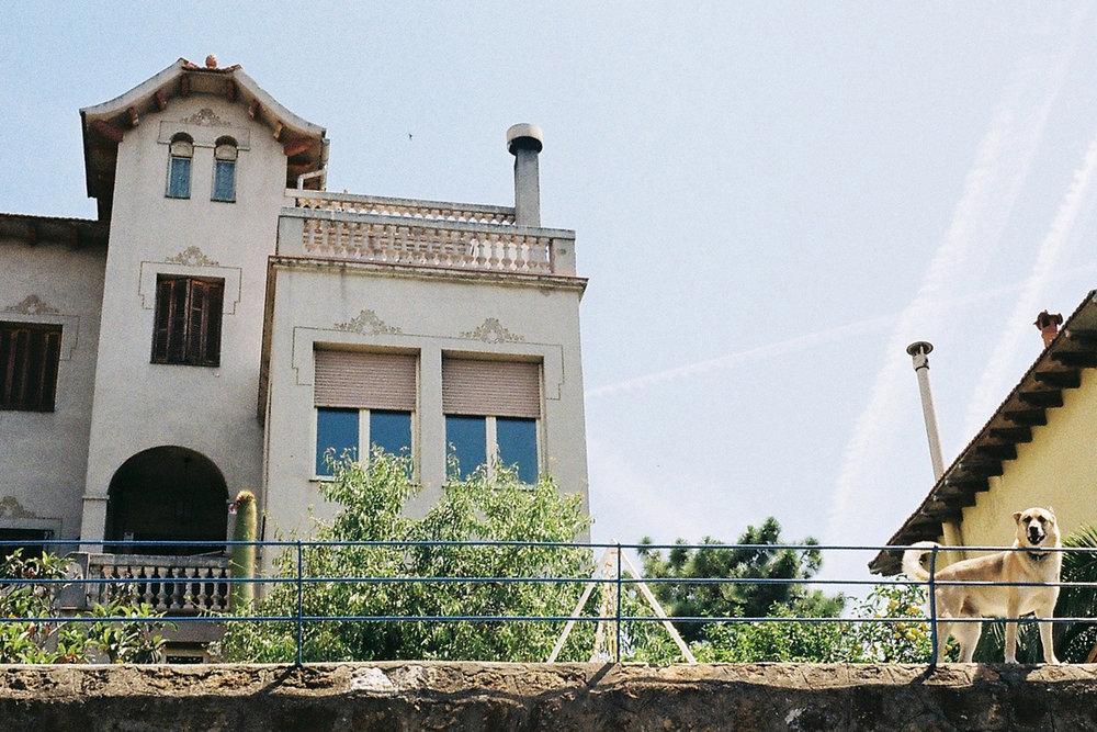 Nähe Park Güell, Barcelona, Spanien, Juni 2014