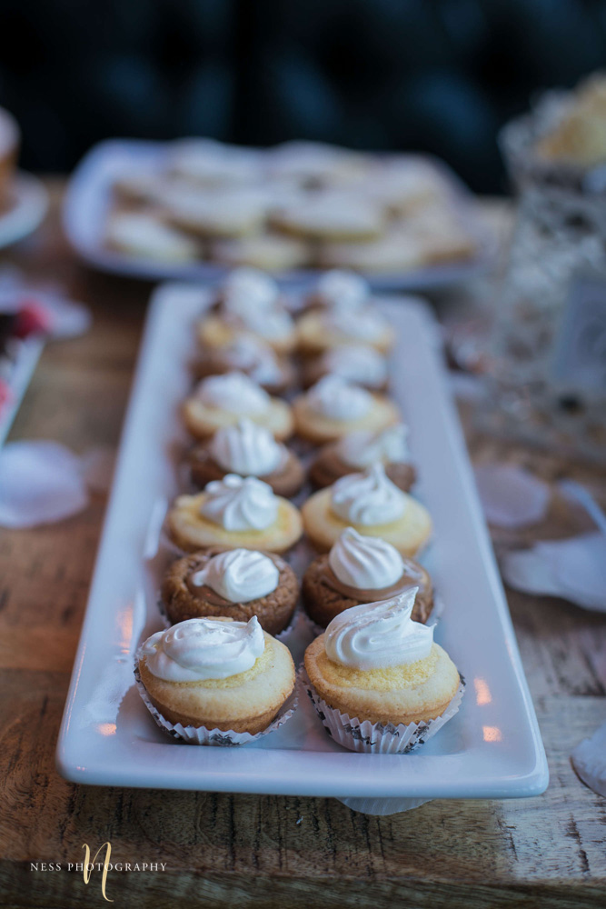 lemon pies on white plate at engagement Party in Montreal