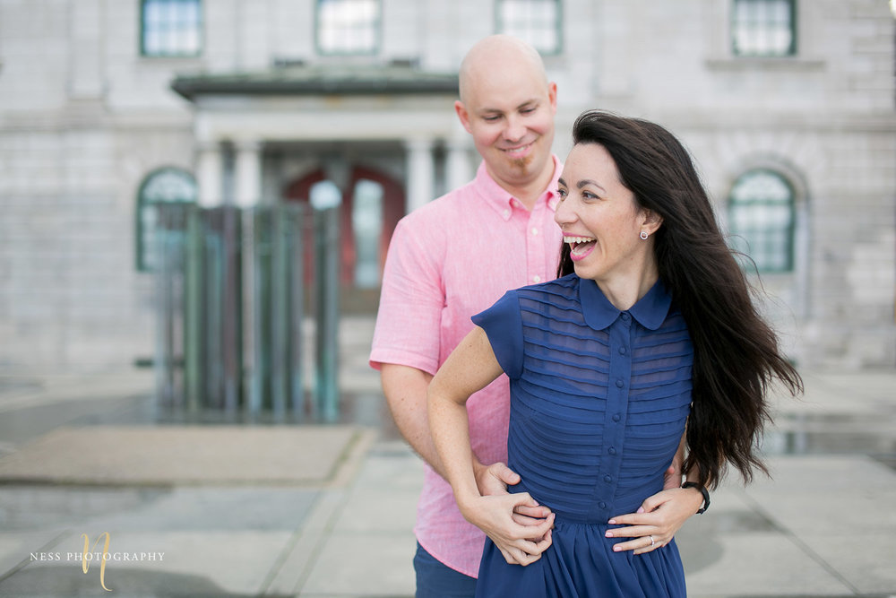 Adelina & Dan Engagement Photos Old Port Montreal with white dog By Ness Photography Wedding and Engagement Photographer 115.jpg