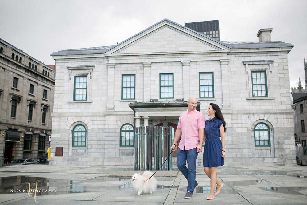 Adelina & Dan Engagement Photos Old Port Montreal with white dog By Ness Photography Wedding and Engagement Photographer 119.jpg