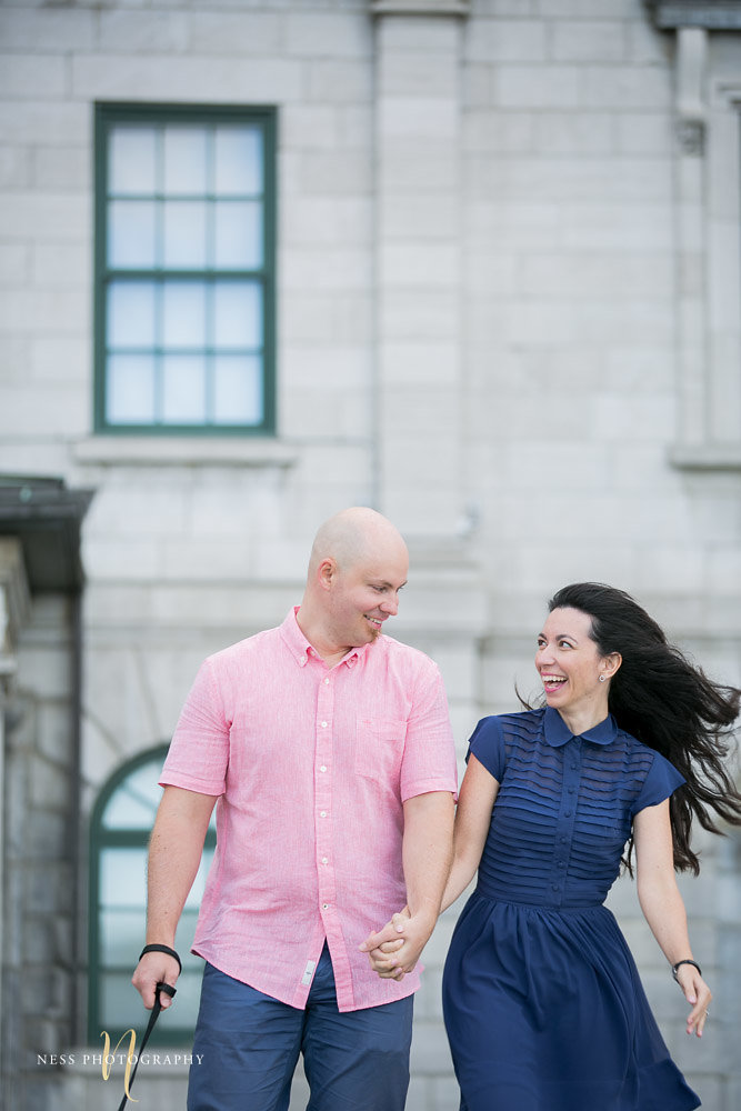 Adelina & Dan Engagement Photos Old Port Montreal with white dog By Ness Photography Wedding and Engagement Photographer 126.jpg
