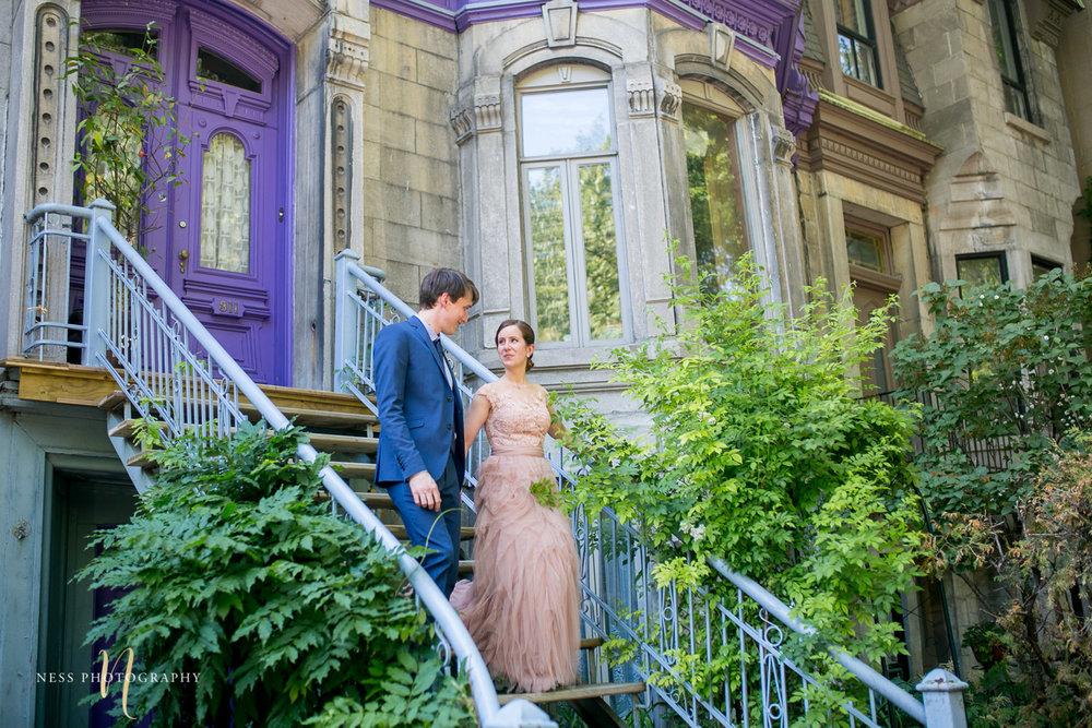 square saint luis plateau mont royal elopement wedding photos