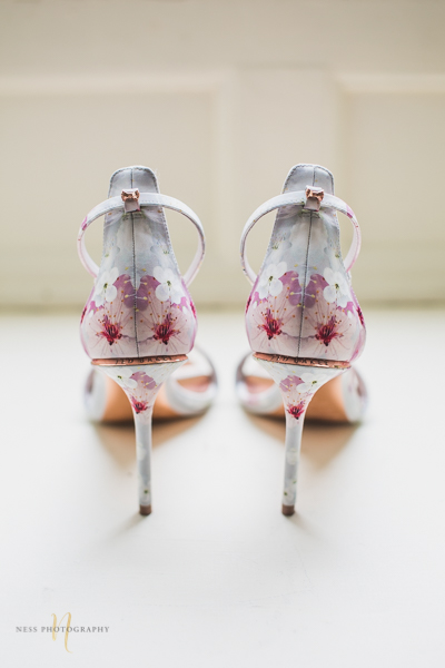 ted baker floral wedding shoes Forest and Steam Club Wedding by Ness Photography Montreal wedding photographer- Bride getting ready-4.jpg