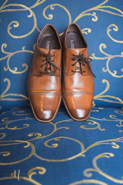 groom brown leather shoes at Wedding at Forest and Stream club by Ness Photography