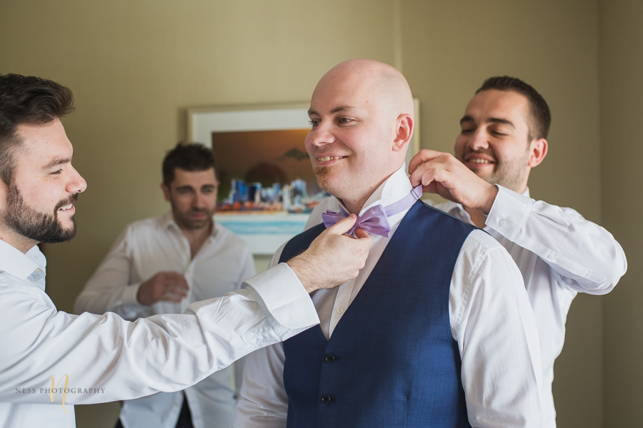 groom getting ready at Wedding at Forest and Stream club by Ness Photography