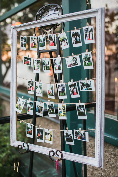 polaroid station at at Forest and Stream club wedding  by Ness Photography