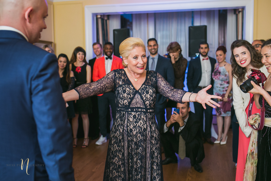mother of the groom at bulgarian wedding at at Forest and Stream club wedding  by Ness Photography