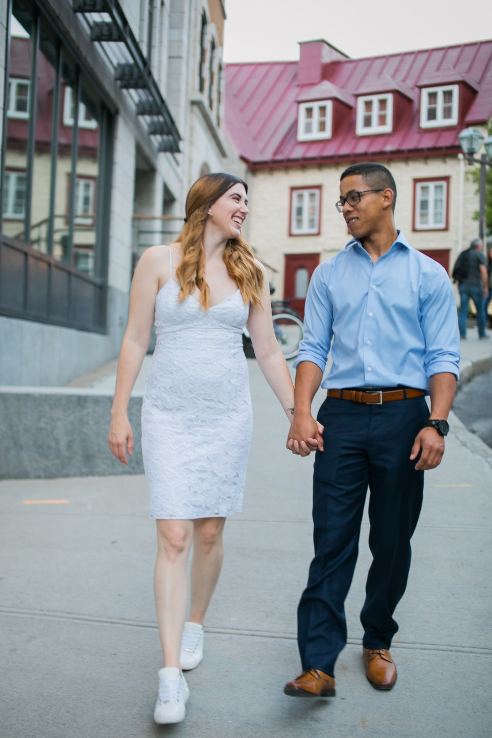 Vieux Old quebec engagement photos at sunset by Ness Photography.7.jpg