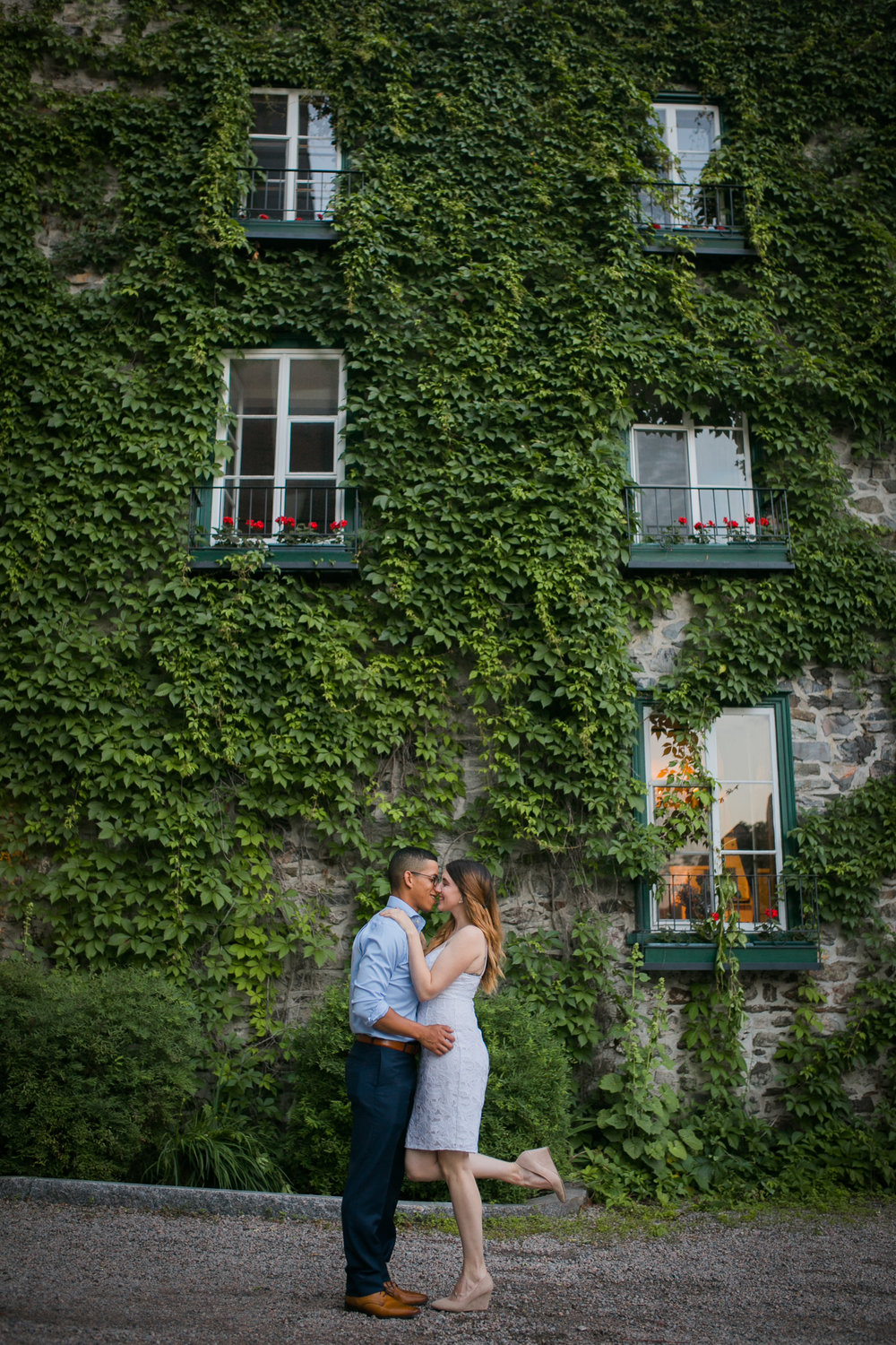 Vieux Old quebec engagement photos at sunset by Ness Photography.8.jpg