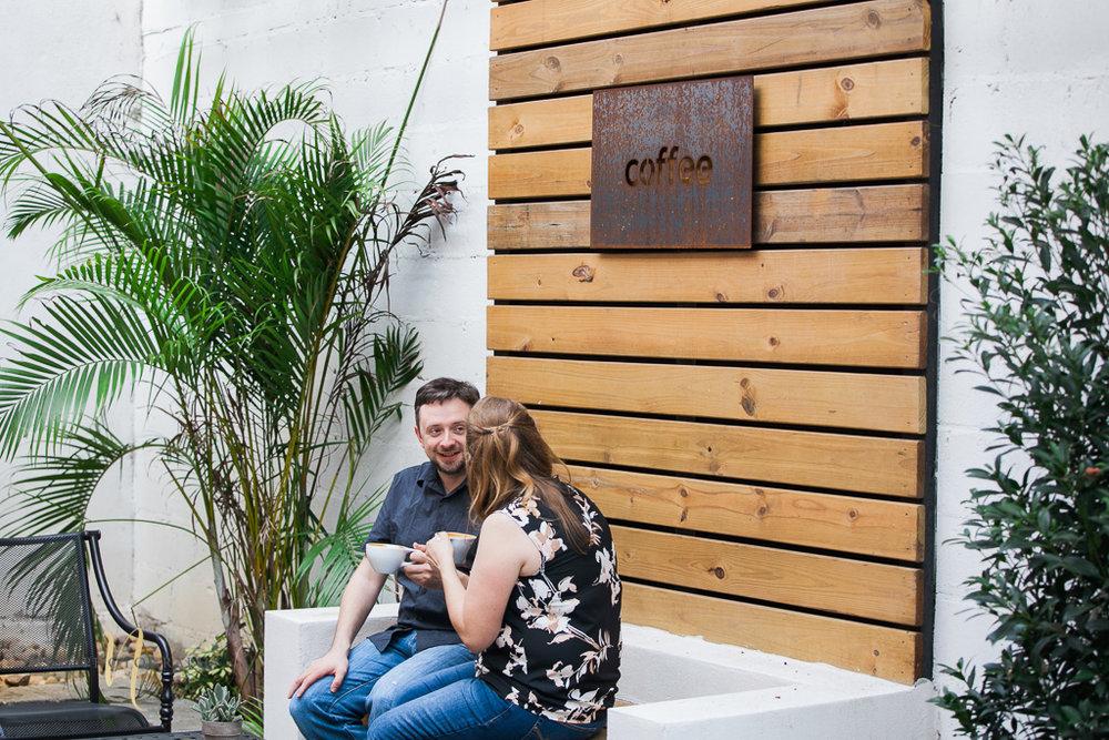 Foundation coffee co engagement photoshoot- Tampa Florida  wedding photographer