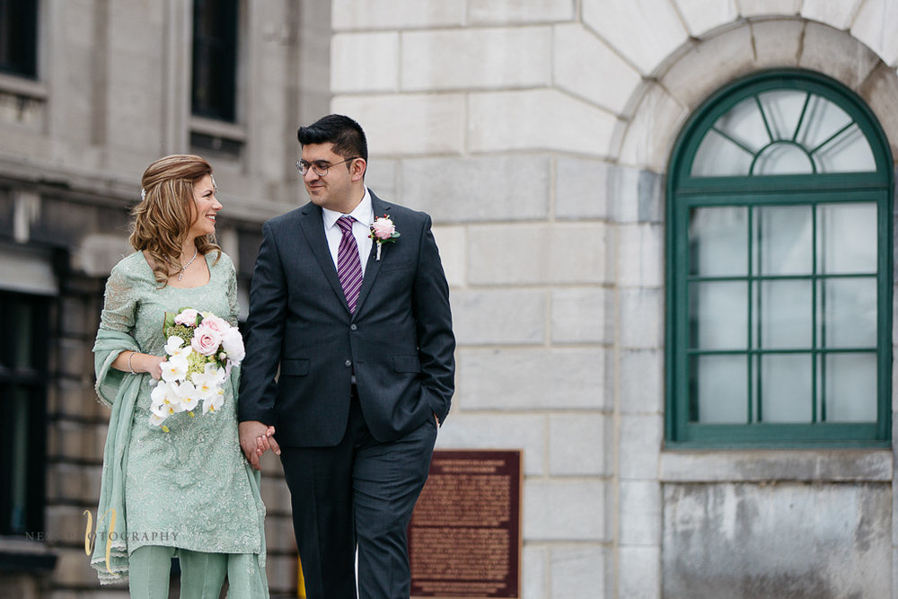 Pakistani Wedding at Pointe à Callière's Mariners House in Montreal Old Port- Bridal photos