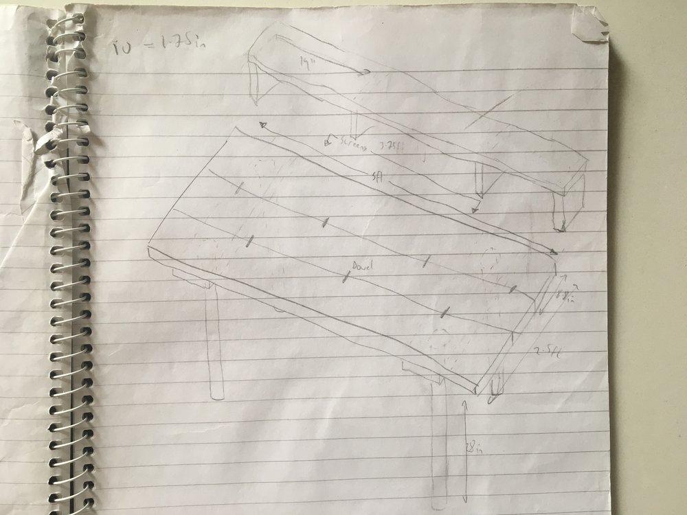 One of my original desk sketches.