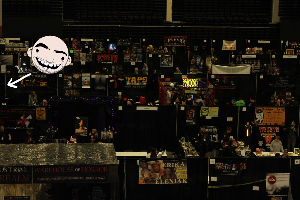 My booth at Scare a Con. A horror convention I've attended for the part 4 years near my studio in Syracuse, New York.