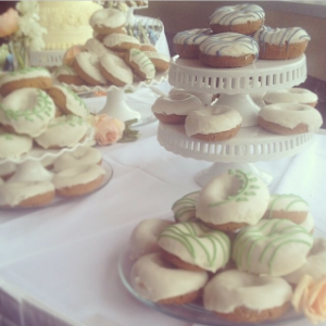I went to a wedding recently where they had a DOUGHNUT BAR. I ate no dinner, just a variety of doughnuts.