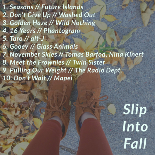 Slip Into Fall Playlist Tracks and Album Artwork