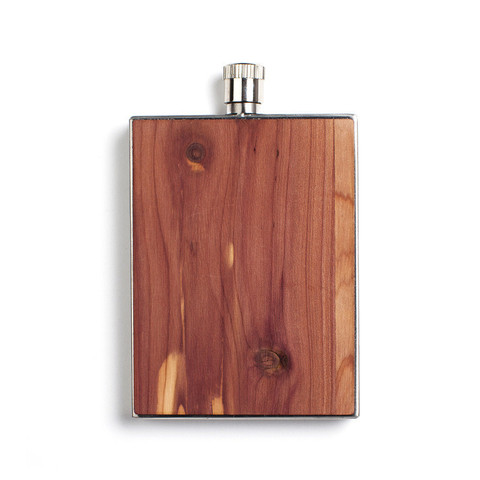 Woodchuck Cedar Wood Flask - $40