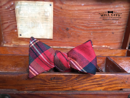 Mill City Fineries Ultimate Holiday Plaid Bow Tie - $48