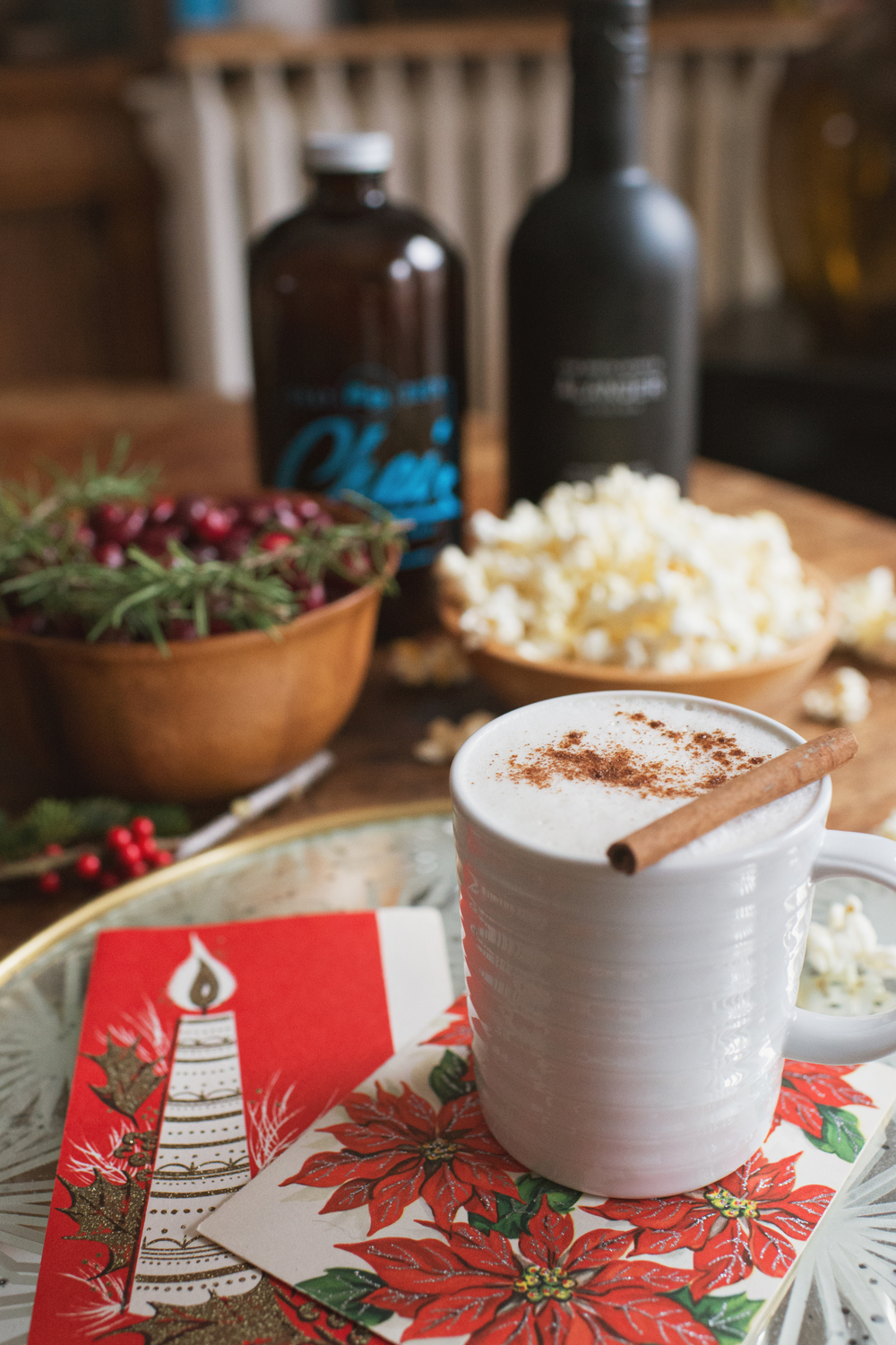 Hot Hygge Chai Cocktail with Spiced Rum and Chai Tea