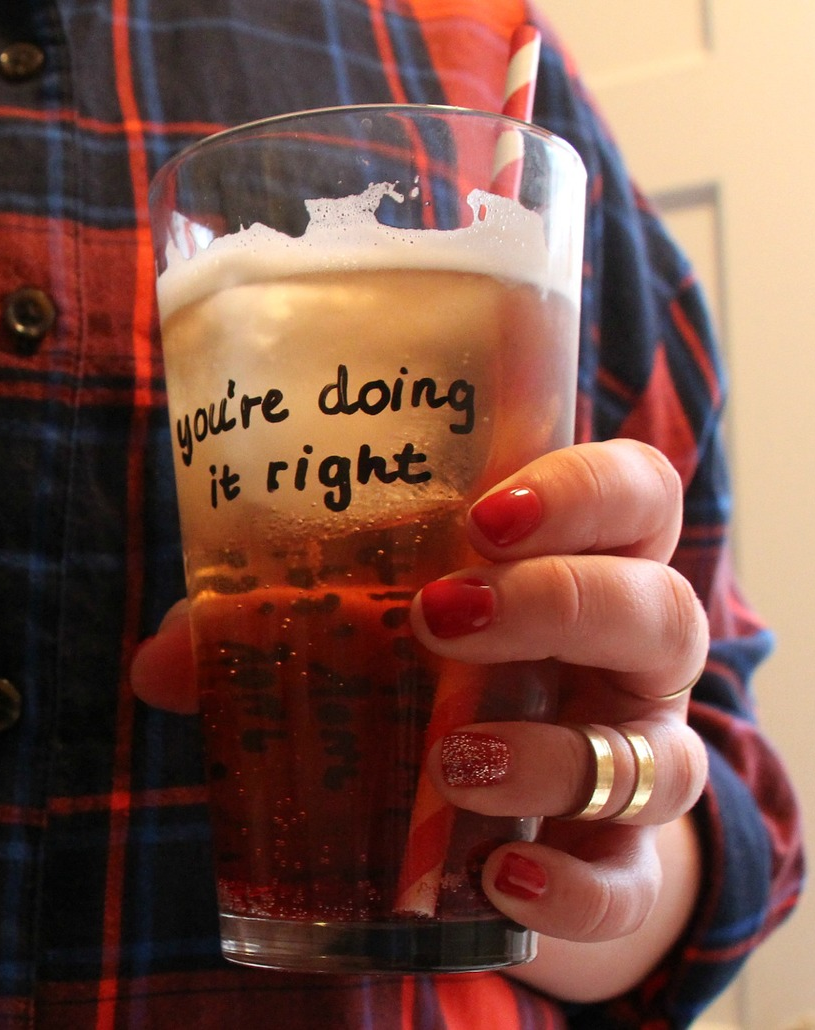 You're Doing It Right Ira Glass Quote Cup
