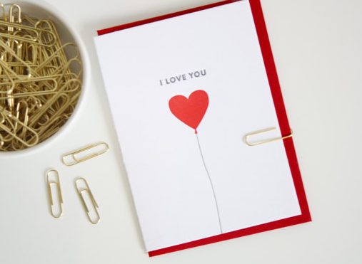 Printerette Press - I Love You Balloon