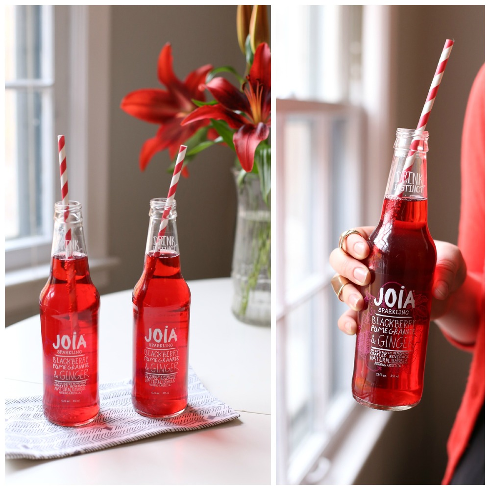 JOIA Natural Soda in Blackberry, Pomegranate and Ginger