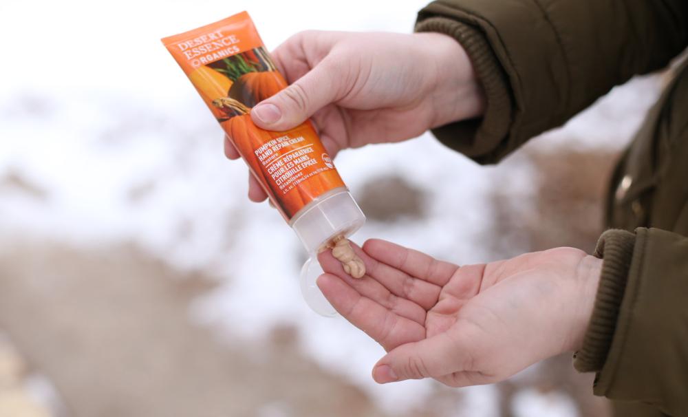 Desert Essence Organics Pumpkin Spice Restore Hand Repair Cream, $8.65.