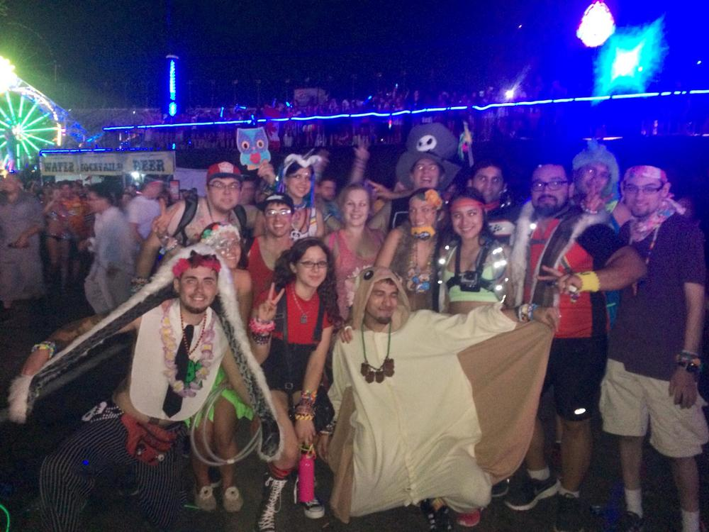 Drew Top Left at EDC LV 2014 with friends :)