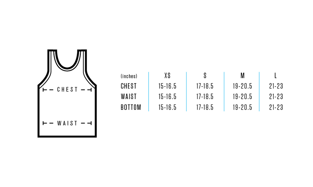 Size chart provides approximate numeric values for each fit/size.    Use measuring tape, measurements are to be taken across front side only.       Measurements for Chest: Measure under arms (fullest part of chest) across front side only to achieve proper fit.     Measurements for Waist: Measure natural waist across the front side only.     Feel free to contact us for any details or questions.