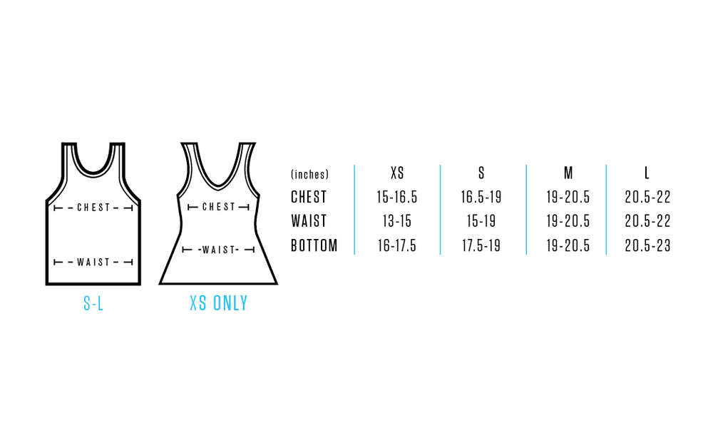 Size chart provides approximate numeric valuesforeach fit/size. Use measuring tape, measurements are to be taken across front side only. Measurements for Chest: Measure under arms (fullest part of chest) across front side only to achieve proper fit. Measurements for Waist: Measure natural waist across the front side only. Feel free to contact us for any details or questions.