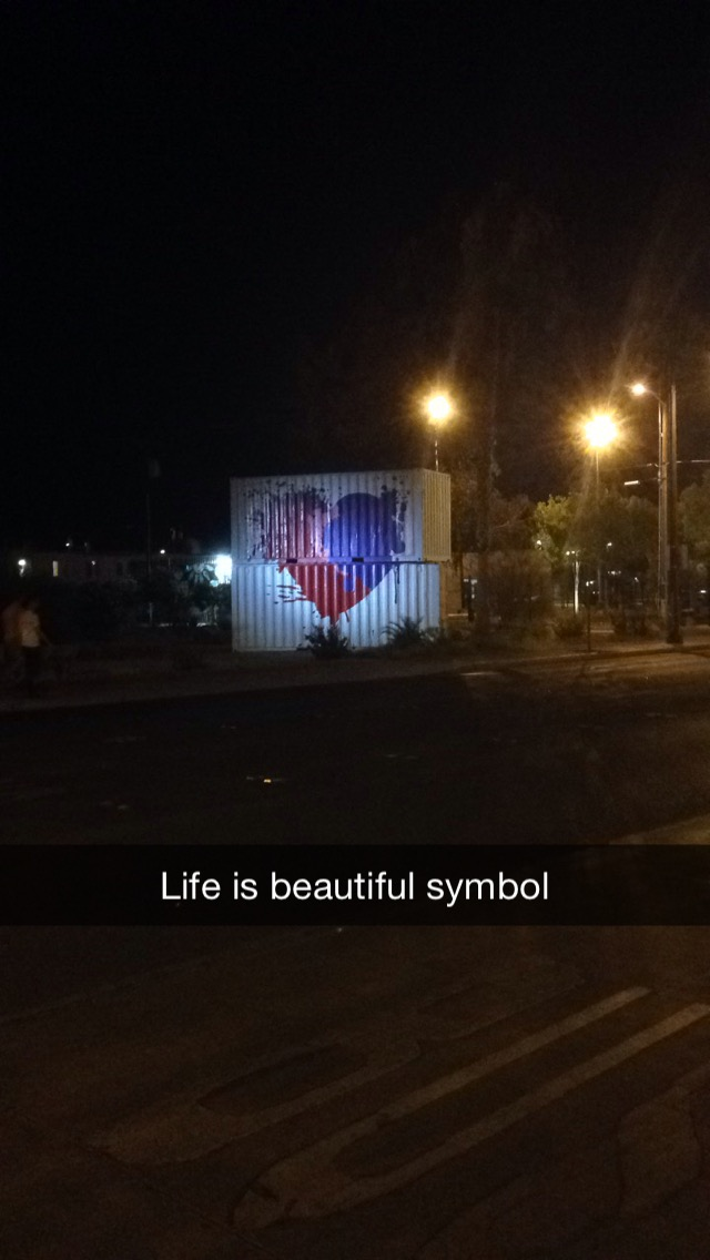 Downtown Street Art!! Painted onto a Shipping Container  Downtown Las Vegas! :)