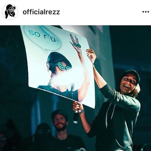 The look on Rezz's face was all so worth it! Sometimes we like to surprise artists that we adore with a memory to share in their career. Here is a repost of @officialrezz taking a sign we made of her onto stage and signing for us post-set on the almighty pagoda stage at Shambhala! Make sure to follow this lovely producer who truly captivates listeners every time she throws down! Can't wait to do it again with her next year!! 🖖👁