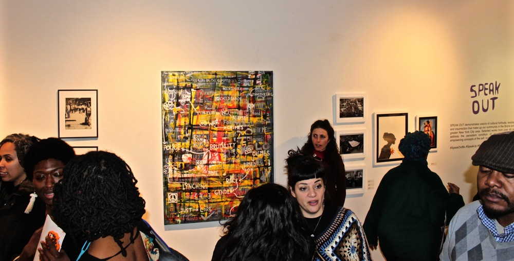 Honored to have been a part of  SPEAK OUT  exhibition at  BRONX ARTSPACE . (click on image)