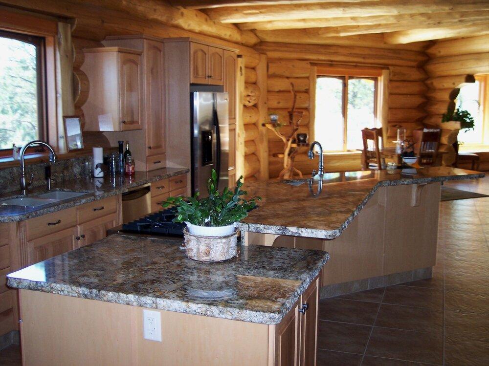Split level kitchen counter