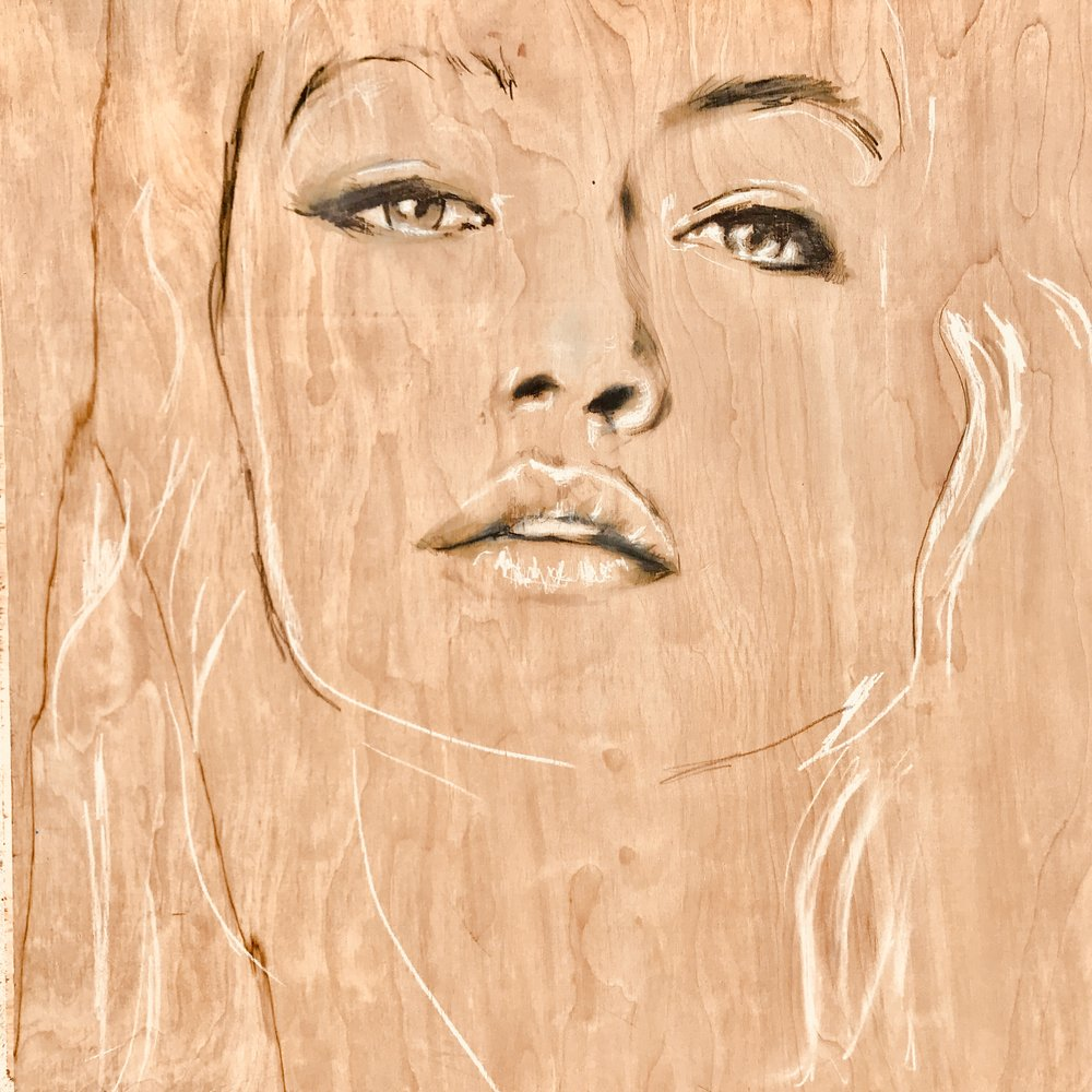 "PORTRAIT ON WOOD | 24"" x 24"" 