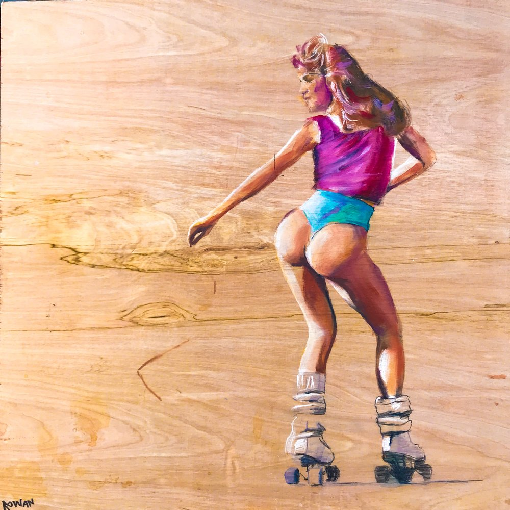 "80s BOD ON WOOD | 24"" x 24"" 