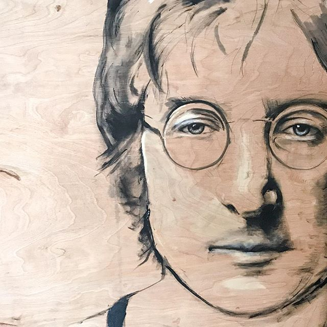Woke up with this song in my head 🎶 Blackbird singing in the dead of night.  Take these broken wings and learn to fly.  All your life.  You were only waiting for this moment to arrise 🎶 • • • • #lennon #johnlennon #thebeatles #beatles #mccartney #johnlennonart #beatlesart #celebrityart #artworks_portrait #modernartists #woodart #emergingartist #artist #artistsoninstagram #contemporaryartist #newyorkartist  #sandiegoartist #arrtpassion #ratedmodernart #theartshed  #pacificbeach #retroart #contemporarypainter #modernartpainter  #artnerd #supportart #abstractrealism #mixedtechnique #bigpainting #aspiretoinspire