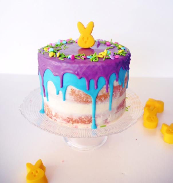 Neon Chocolate Drip Cake A Sweet Savory