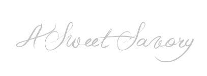 BLOG — A Sweet Savory