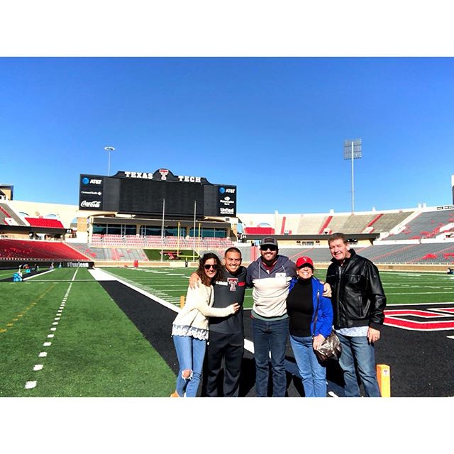 Thank you @boomersaia and @texastechathletics for showing me and the family around today! Good luck with @texasfootball this weekend! #wreckem #gunsup #texastechfootball
