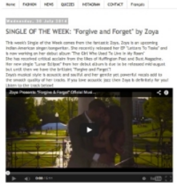 "MAGIA MEDIA names ""Forgive & Forget"" Single of the Week! ----http://magiamedia.blogspot.com/2014/07/single-of-week-forgive-and-forget-by.html"