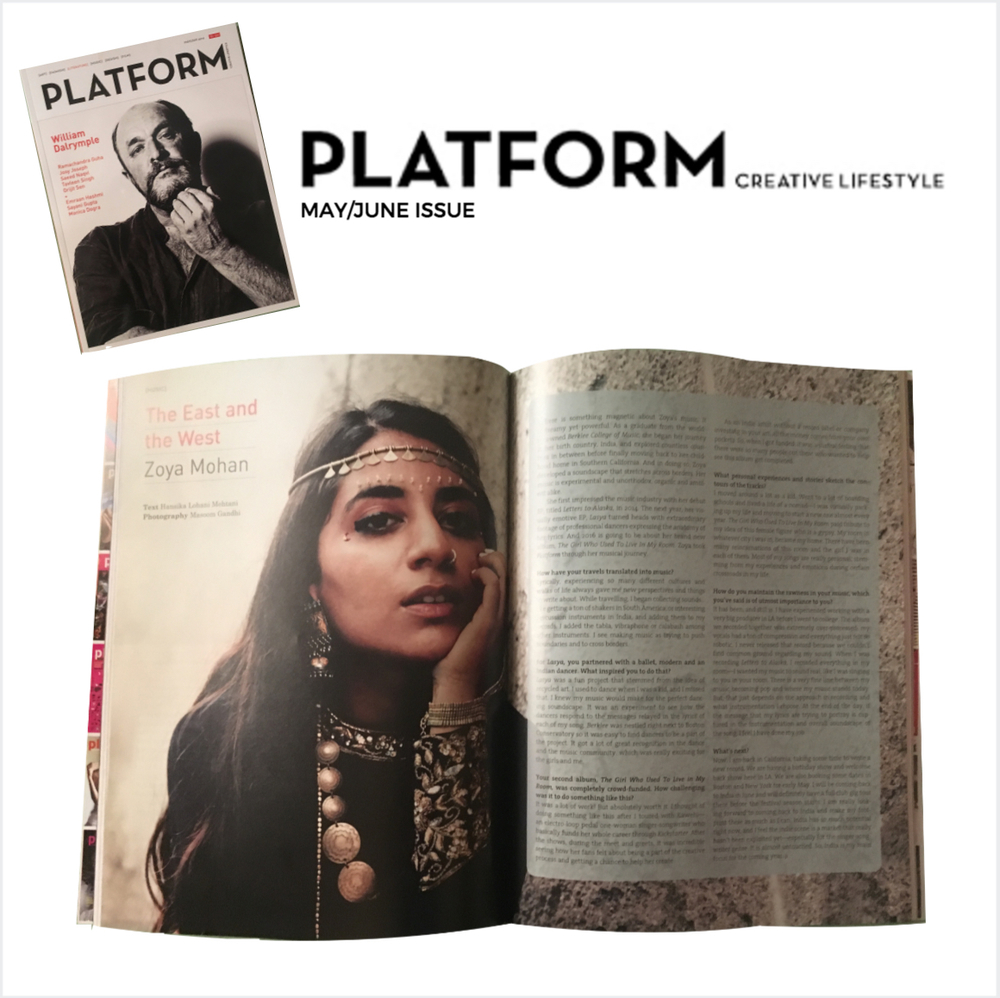 Platform Magazine, Artist to Watch - March 2016
