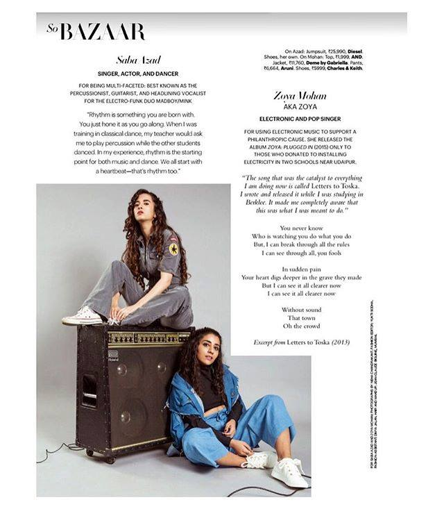 Harpers Bazaar Feature - Top Women in Music In India