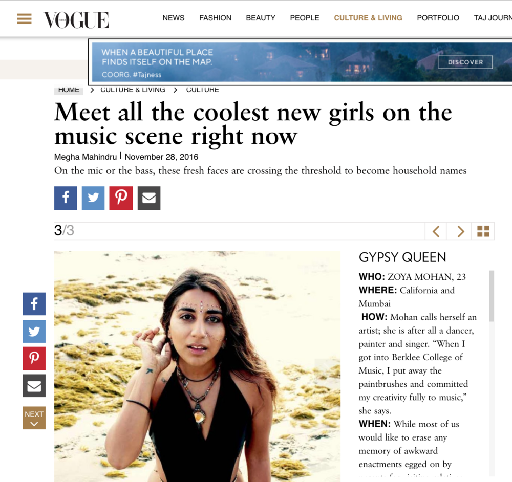 Zoya - VOGUE feature  -  https://www.vogue.in/content/meet-all-the-coolest-new-girls-on-the-music-scene-right-now/