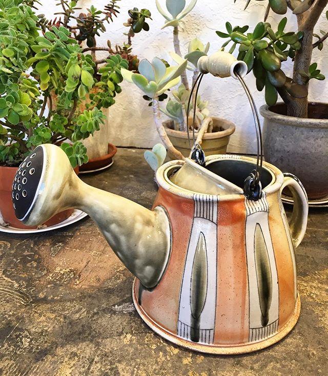 Just received a new batch of ceramics from @lornameadenpottery. Would ya take a look at this watering can 🤭😮🤯 . . . . #studioand #anddurango #contemporaryart #artgallery #durangocolorado #downtowndurango #durango #colorado #CO #art #artideasprogress #localart #shoplocal #localfirst #makesomething #dgo #ceramics #contemporaryceramics #functionalceramics