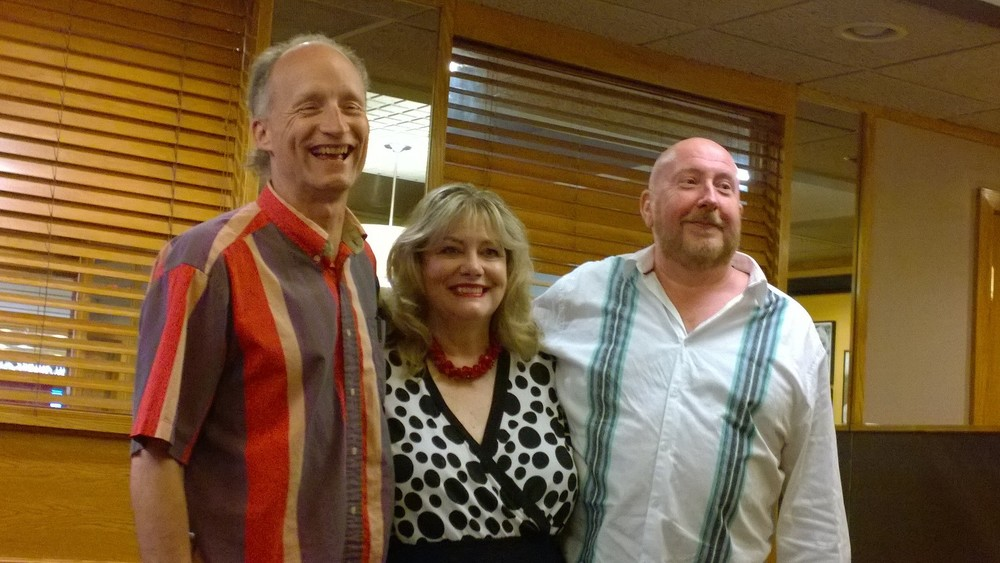 Richard Oberbruener, Cynthia Wade and Bill Russell as The Three Headed Expert